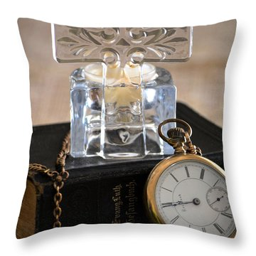 Time For God Throw Pillow by Deb Halloran