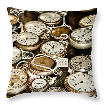 Time For Sale Throw Pillow