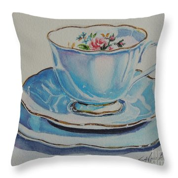 Time For Tea Sold Throw Pillow