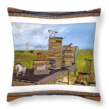 Time Frame Throw Pillow by Betsy Knapp
