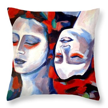 Throw Pillow featuring the painting Time Goes By by Helena Wierzbicki