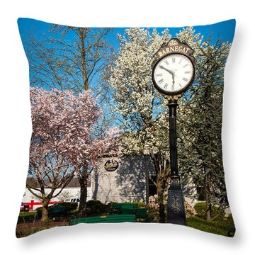 Time In Barnegat Throw Pillow by Bob and Nancy Kendrick