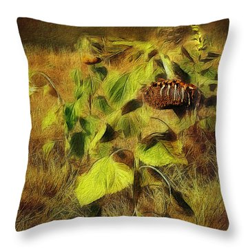 Throw Pillow featuring the digital art Time Is The Enemy by Rhonda Strickland