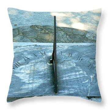 Throw Pillow featuring the photograph Time Keeps On Ticking by Michael Porchik