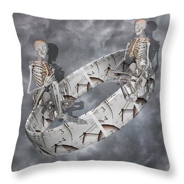 Time Management Throw Pillow by Betsy Knapp