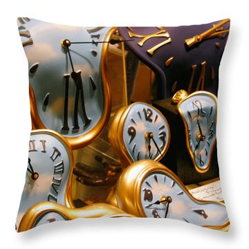 Time Melting Away.. Throw Pillow by A Rey