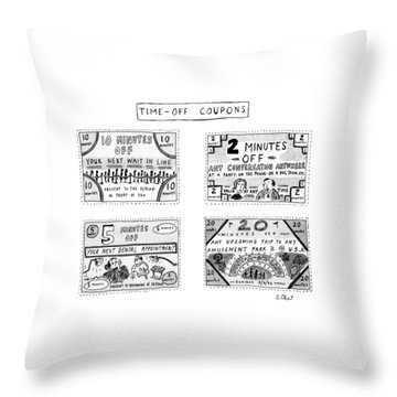 Time-off Coupons Throw Pillow