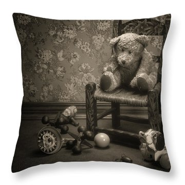 Time Out - A Teddy Bear Still Life Throw Pillow