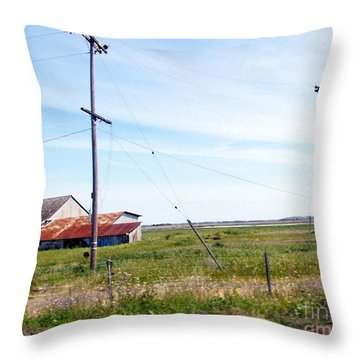 Throw Pillow featuring the photograph Time Passed By by Bobbee Rickard