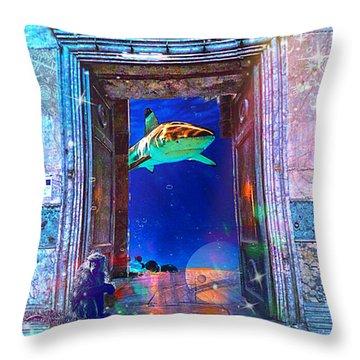 Time Portal Throw Pillow