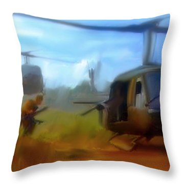 Time Sacrificed II Vietnam Veterans  Throw Pillow by Iconic Images Art Gallery David Pucciarelli