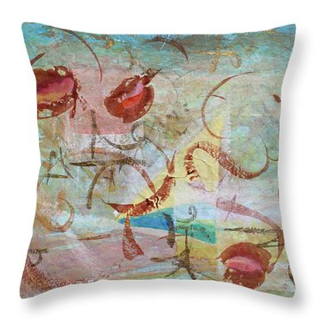 Time Softened Memory Throw Pillow by Asha Carolyn Young