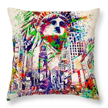 Times Square 3 Throw Pillow