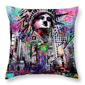 Times Square Throw Pillow