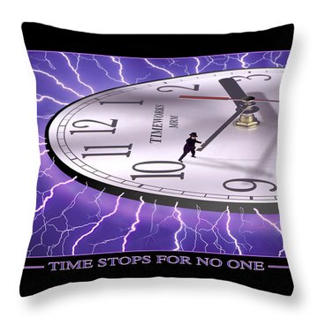 Time Stops For No One Throw Pillow by Mike McGlothlen