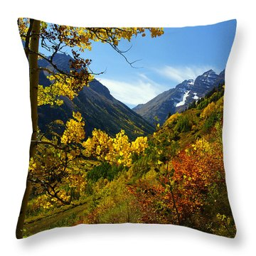Time Stops Throw Pillow