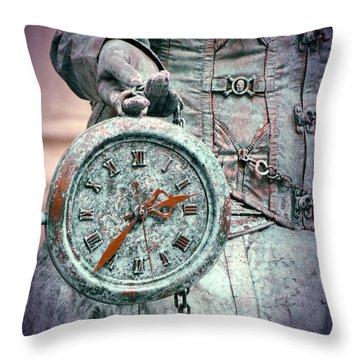 Time Time Time Throw Pillow by Jaroslaw Blaminsky