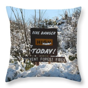 Throw Pillow featuring the photograph Time To Change The Sign by David S Reynolds