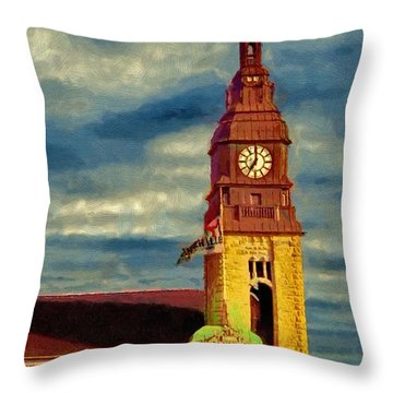 Time To Go Throw Pillow by Jeff Kolker