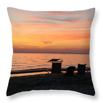 Throw Pillow featuring the photograph Time To Reflect by Karen Silvestri