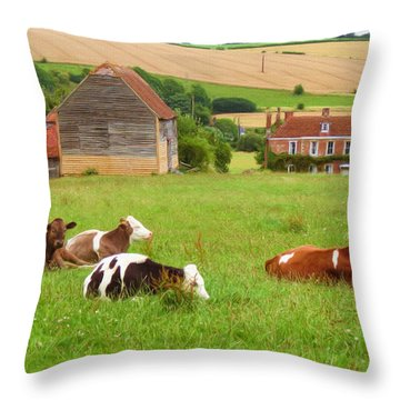 Time To Rest Throw Pillow by Ayse Deniz