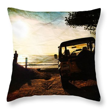 Time To Think Throw Pillow by Sabine Jacobs