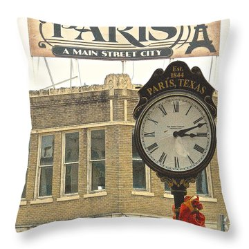 Time To Visit Paris Throw Pillow