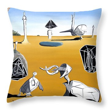 Throw Pillow featuring the painting Time Travel by Ryan Demaree