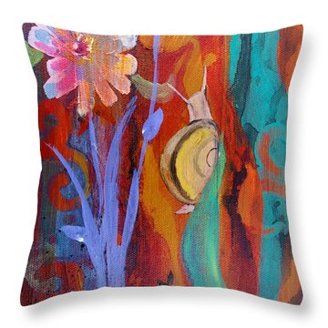 Throw Pillow featuring the painting Time Traveler by Robin Maria Pedrero