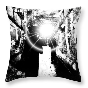 Throw Pillow featuring the digital art Time Travellers by Fine Art By Andrew David