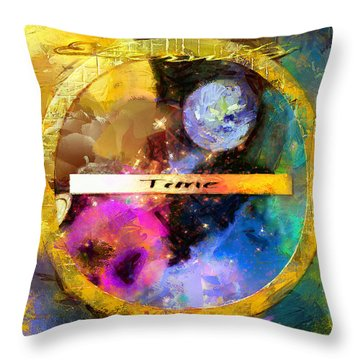 Throw Pillow featuring the painting Time Versus Eternity by Wayne Pascall