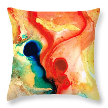Time Will Tell - Abstract Art By Sharon Cummings Throw Pillow by Sharon Cummings