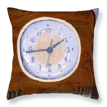 Throw Pillow featuring the painting Time Will Tell by Lynne Reichhart