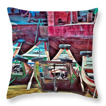 Throw Pillow featuring the photograph Time Worn by Wallaroo Images