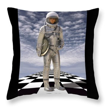 Time Zone Throw Pillow by Mike McGlothlen