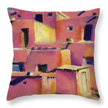 Timeless Adobe Throw Pillow by Stephen Anderson
