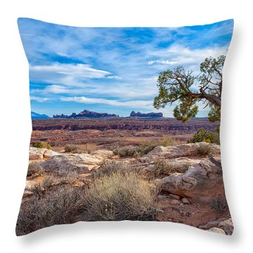 Timeless Arches National Park Throw Pillow
