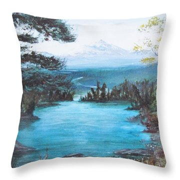 Throw Pillow featuring the painting Timeless by Cathy Long