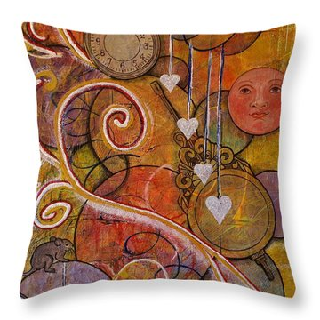 Throw Pillow featuring the painting Timeless Love by Jane Chesnut