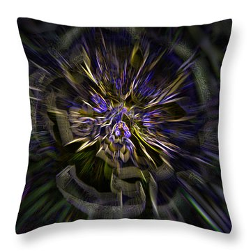 Timeline Throw Pillow by Martina  Rathgens