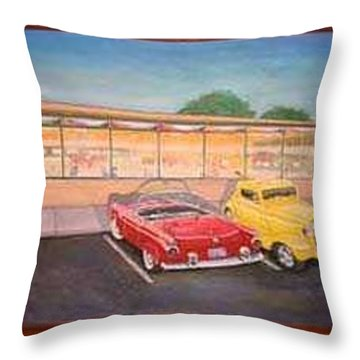 Times Past Diner Throw Pillow by Rick Huotari