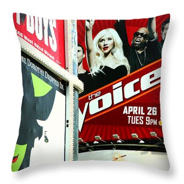 Times Square Billboards Throw Pillow by Valentino Visentini