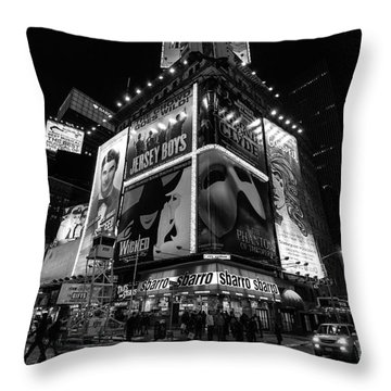 Times Square Black And White II Throw Pillow