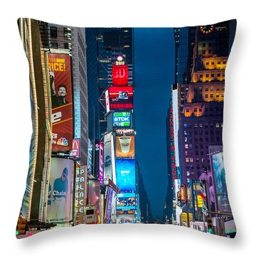 Times Square I Throw Pillow