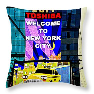 Times Square New Years Eve Ball Throw Pillow by Ed Weidman