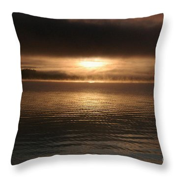 Timothy Lake Mysterious Sunrise 2 Throw Pillow