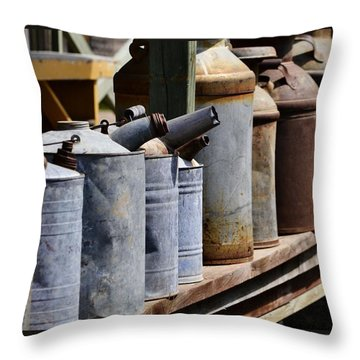 Tin Can Alley Throw Pillow