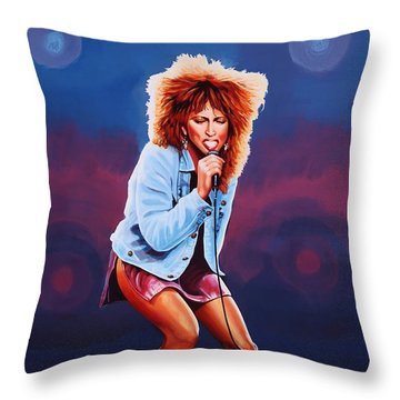 Tina Turner Throw Pillow by Paul Meijering