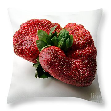 Tina's Strawberry Throw Pillow