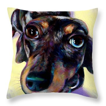 Throw Pillow featuring the painting Tink  by Robert Phelps
